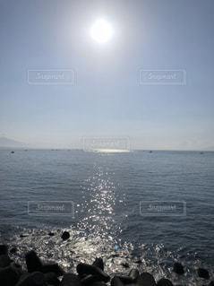 海,空,太陽,光