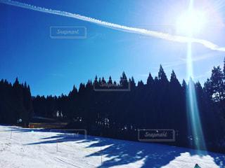 自然,空,雪,屋外,太陽,山,光,スキー,スノボ,斜面