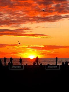 風景,海,空,太陽,ビーチ,光