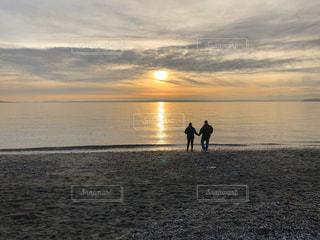 恋人,風景,海,空,太陽,ビーチ,夕暮れ,水面,海岸,アメリカ,光,人,シアトル
