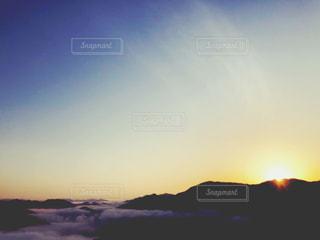 自然,空,太陽,山,光,登山,日の出,早朝