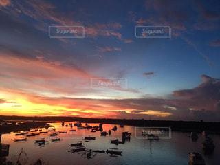 自然,空,太陽,夕暮れ,光,神秘的,サンセット,バリ島
