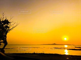 風景,空,屋外,太陽,ビーチ,夕暮れ,水面,光