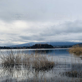 空,富士山,太陽,光,河口湖大石公園,曇りで見えない
