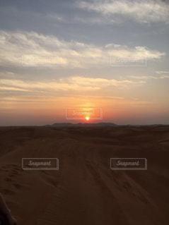 空,夕日,海外,太陽,夕暮れ,光,砂漠,ドバイ,砂漠ツアー