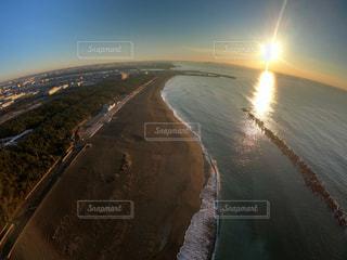 自然,海,空,屋外,太陽,ビーチ,水面,海岸,光