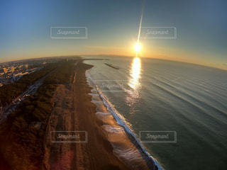 自然,海,空,屋外,太陽,ビーチ,砂浜,水面,海岸,光,GoPro hero7ブラック