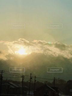 空,雪,太陽,雲,光,朝
