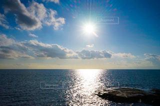 自然,海,空,太陽,朝日,ビーチ,雲,水面,海岸,光,江ノ島