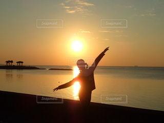 海,空,夕日,太陽,ビーチ,光,サンセット