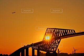 夕方の東京ゲートブリッジの写真・画像素材[2881946]