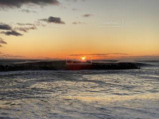 海,空,太陽,海岸,光,日の出