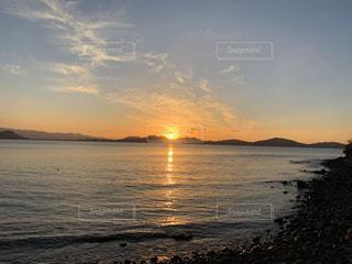風景,海,空,太陽,ビーチ,夕焼け,夕暮れ,光,夕陽