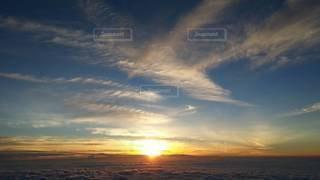 空,太陽,朝日,光,雲海,日の出