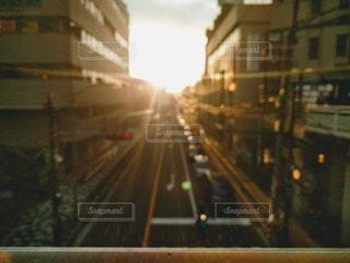 市街地の夕暮れイメージの写真・画像素材[2894298]