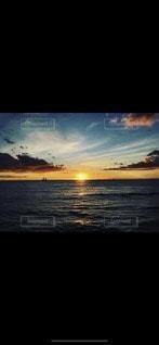 空,夕日,太陽,ビーチ,光,ハワイ,Hawaii