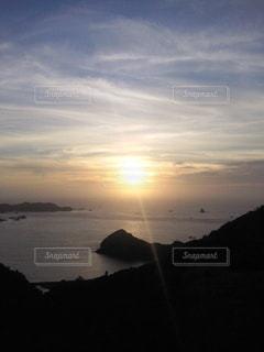 海,空,太陽,雲,夕暮れ,光,岬