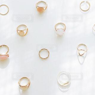 お気に入りのリングたちの写真・画像素材[2888795]