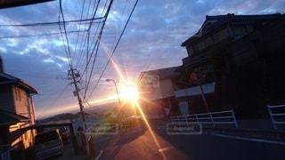 空,太陽,夕焼け,光,ノスタルジック
