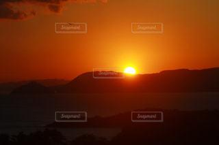風景,空,太陽,雲,山,光,日の出,初日の出