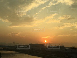 空,屋外,太陽,雲,夕暮れ,光