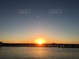 風景,空,屋外,太陽,朝日,水面,光,江ノ島,初日の出