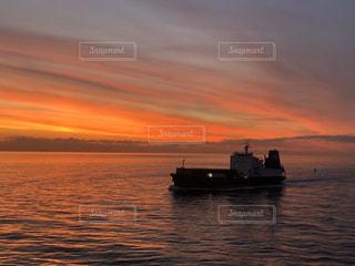 海,空,太陽,船,水面,光,旅行,日の出