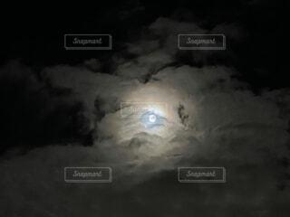 自然,風景,空,夜空,雲,暗い,月,満月,龍,龍眼