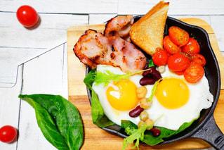 ある日の朝食の写真・画像素材[2896220]