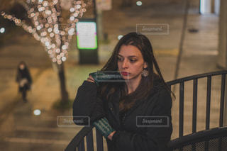 女性,恋人,1人,モデル,イルミネーション,手袋,グランフロント,外国人