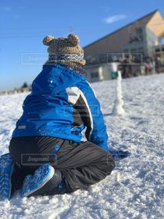 男性,子ども,アウトドア,空,スポーツ,雪,屋外,青,人物,人,スキー,ゲレンデ,レジャー,スノーボード,日中,冷
