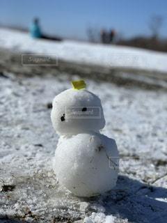 アウトドア,スポーツ,雪,屋外,白,人物,雪だるま,地面,ゲレンデ,レジャー
