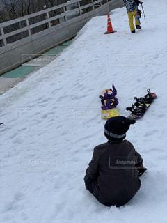 男性,子ども,自然,アウトドア,スポーツ,雪,人物,人,ゲレンデ,レジャー,スノーボード