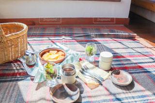 お家ピクニックの写真・画像素材[3096115]