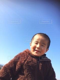 笑顔の男の子の写真・画像素材[4129348]