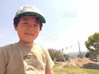 笑顔の男の子の写真・画像素材[4129352]