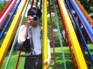 カメラ男子の写真・画像素材[3008656]
