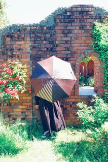 日傘をさす女性の写真・画像素材[3048467]