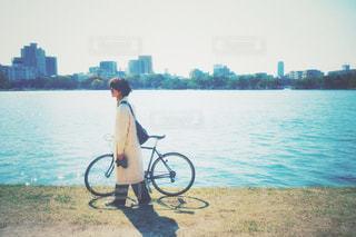 自転車男子の写真・画像素材[3048933]