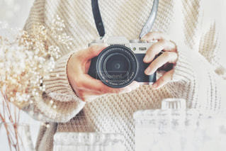 カメラ女子の写真・画像素材[3296920]