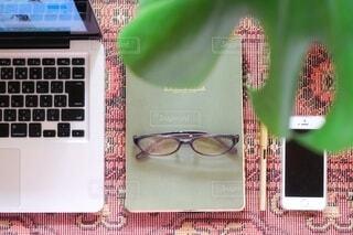 PCメガネの写真・画像素材[3644620]