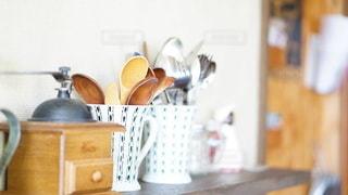 木製のテーブルの写真・画像素材[2925509]