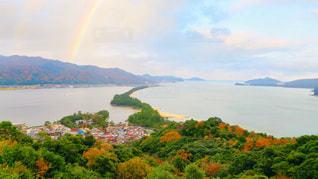 虹のかかった天橋立の写真・画像素材[917723]