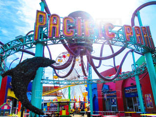 LA サンタモニカのピアの写真・画像素材[917740]