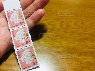切手3枚の写真・画像素材[2984870]