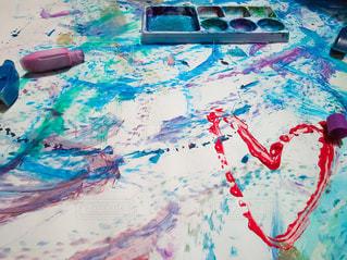 屋外,カラフル,絵の具,アート,ハート,ペン,紙,おえかき,パレット,おうち時間