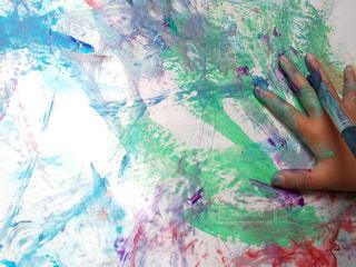 屋外,カラフル,絵の具,手,アート,子供,ペン,幼児,紙,筆,おえかき,おうち時間