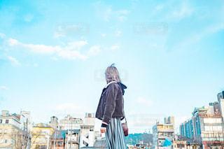 青と君の写真・画像素材[2998446]