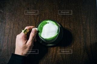 抹茶ラテの写真・画像素材[4118643]