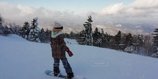 女性,自然,風景,アウトドア,空,スポーツ,雪,山,人物,人,ゲレンデ,レジャー,スノーボード